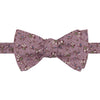 Mauve and Green Ditsy Flower Printed Silk Butterly Bow Tie