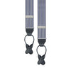 Blue Cotton Engineered Stripe Braces