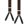 Brown and Navy Bold Stripe Braces