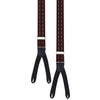 Burgundy Textured Stripe Braces