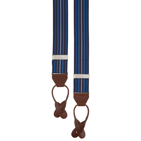 Navy and Blue Multi Stripe Braces