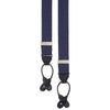 Navy and Pink Polka Dot Silk Braces