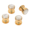 Gold and Mother of Pearl Dress Studs