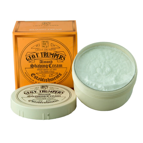 Geo F Trumper Almond 200g Soft Shaving Cream Bowl