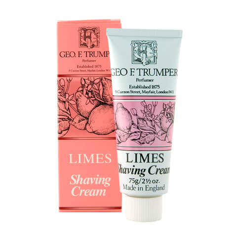 Geo F Trumper Lime 75g Shaving Cream Tube
