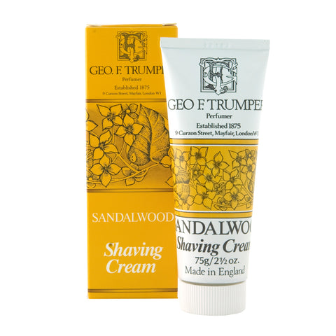 Geo F Trumper Sandalwood 75g Shaving Cream Tube