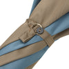 Blue and Beige Mallaca Wood Handle Two Colour Panel Umbrella
