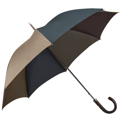 Dark Chestnut Four Colour Panel Umbrella