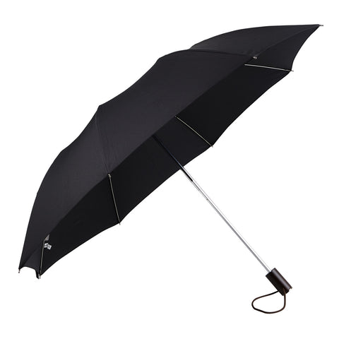 Brown Maple Wood Straight Handle Telescopic Umbrella