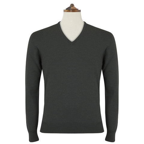 Kendrick Forest Green V Neck Pullover