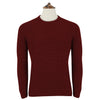 Killian Wine Ribbed Crew Neck Pullover