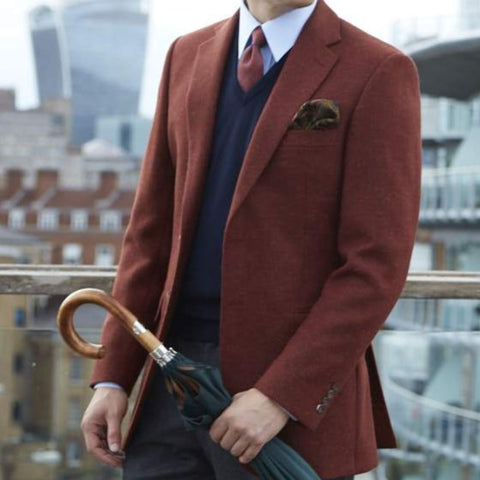 William Rust Herringbone Jacket
