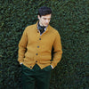 Kingsley Ochre Ribbed Cardigan