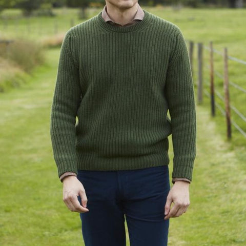 Killian Fern Ribbed Crew Neck Pullover