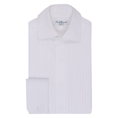 White Draper pleated dress shirt