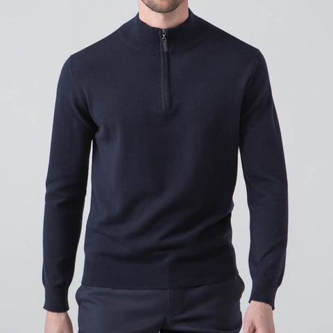 Kayden Navy Half Zip Long Sleeve Pullover