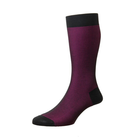 Santos Fushia Mercerised Cotton Socks