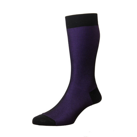 Santos Purple Mercerised Cotton Socks