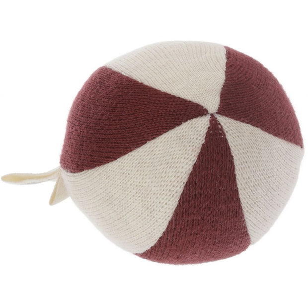 Kleiner Stoffball 'bordeaux'