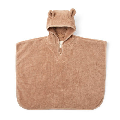 Bade-Poncho aus Frottee in 'beige tan'