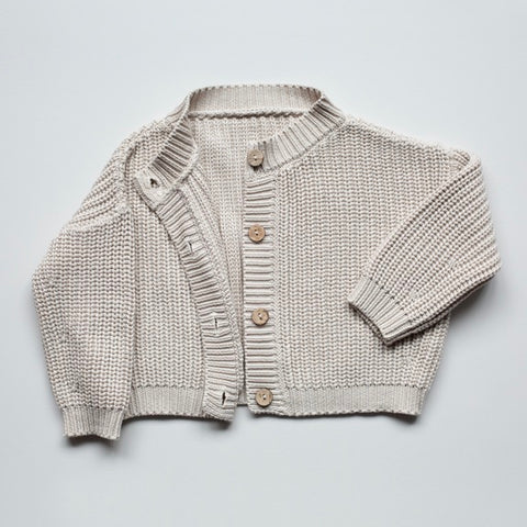 Gestrickter Oversized Cardigan in 'oatmeal'