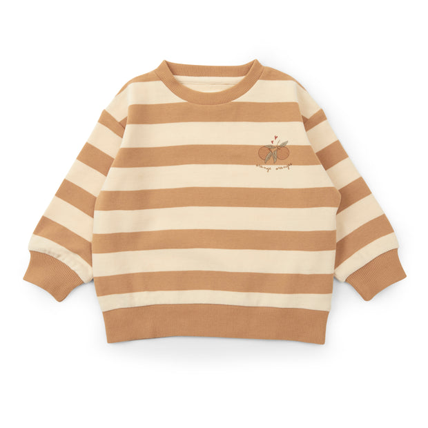 Sweatshirt 'Lou' in striped biscuit