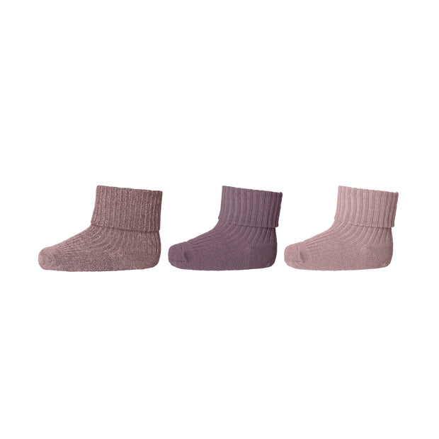 3er-Pack Socken 'Love' in multi rose