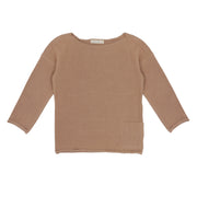 Summer Sweater 'Drop Shoulder' in dusty nude