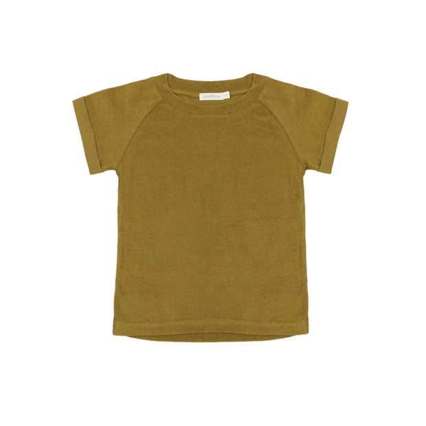T-Shirt 'Frottee' in pear