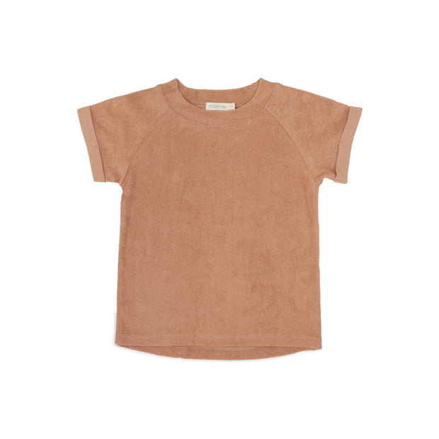 T-Shirt 'Frottee' in warm biscuit