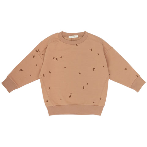 Oversized Summer Sweater 'Stones' in warm biscuit