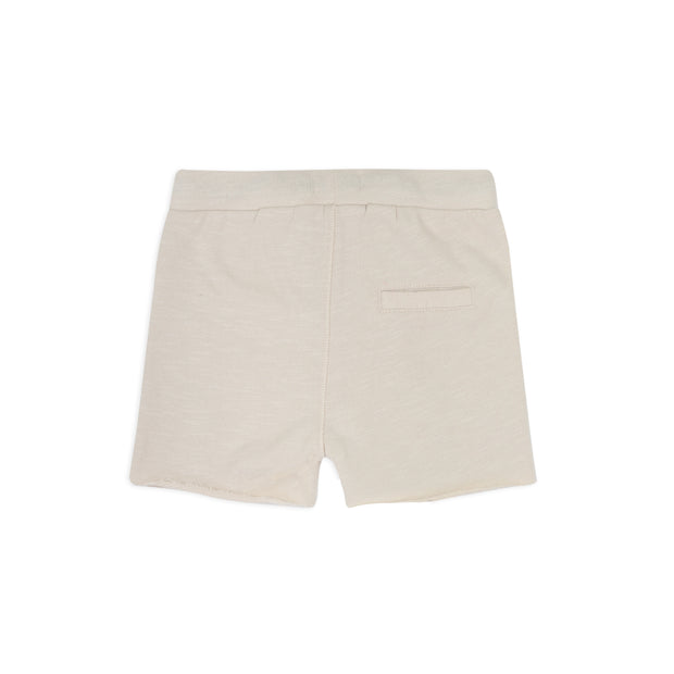 Sweat Shorts 'raw edged' in oatmeal