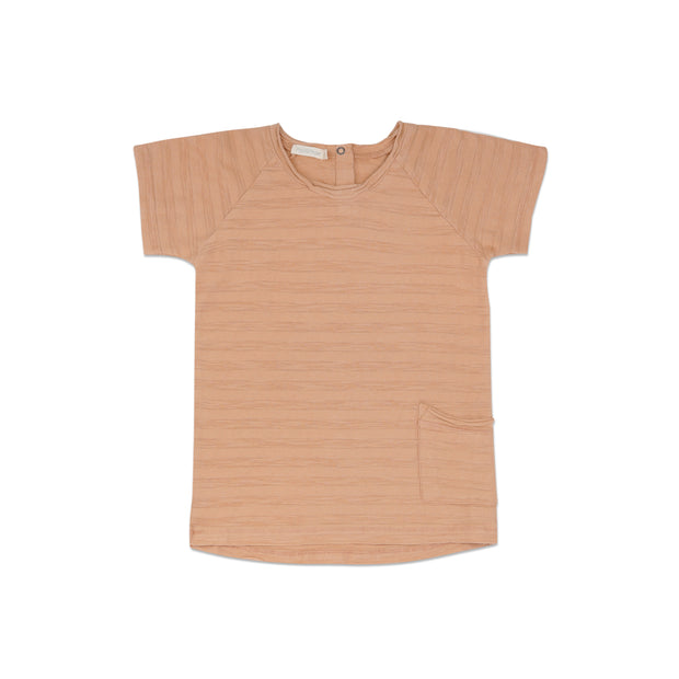 T-Shirt 'tonal stripe' in peach dust