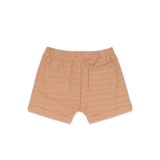 Summer Shorts 'tonal stripes' in peach dust