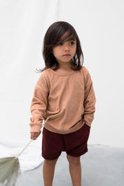 Sweater 'Frottee' in warm biscuit