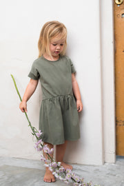 Oversized Jersey Kleid in sage