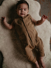 The Simple Folk Playsuit in walnut