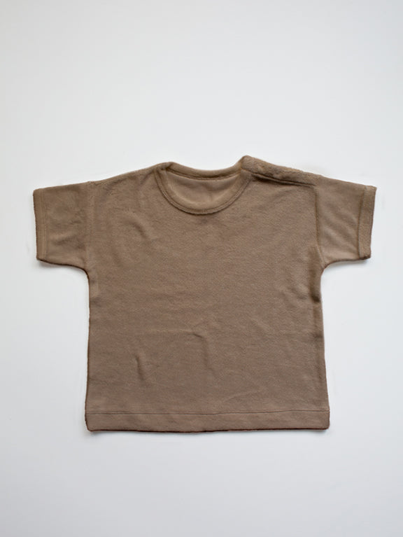 The Simple Folk T-Shirt aus Frottee in walnut