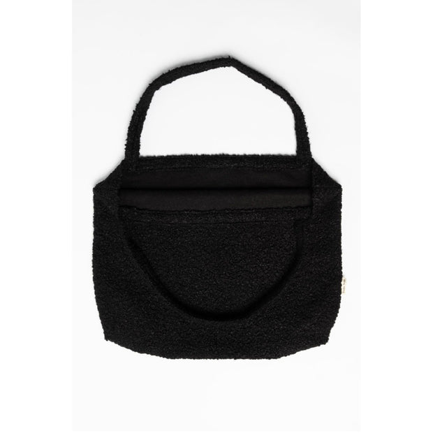 Studio Noos Mombag 'Bouclé' in black