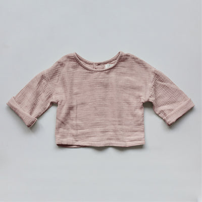 Musselinshirt in rose