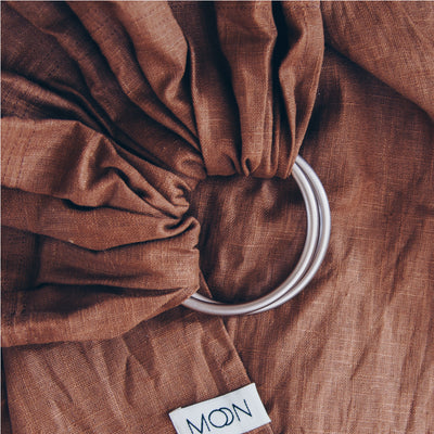 Ring Sling 'Moon' in cinnamon