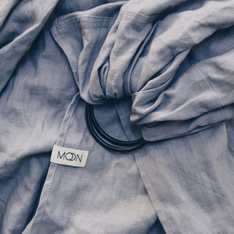 Ring Sling 'Moon' in grey