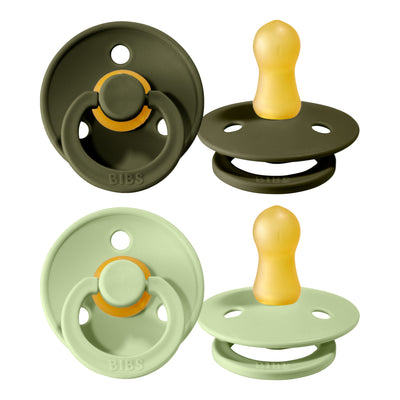 Schnuller 'Bibs' 2er-Pack in Hunter Green & Sage