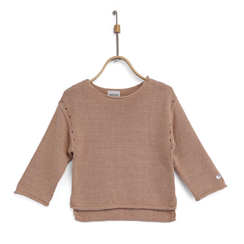 Sweater 'Nes' in pink clay