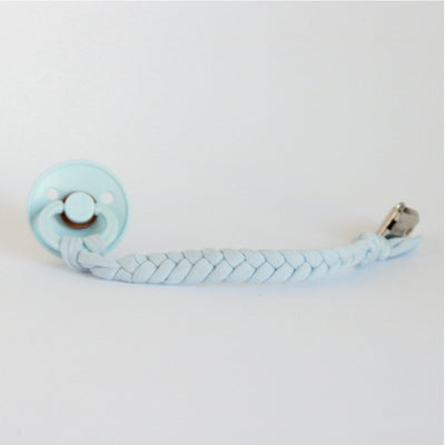 Schnullerkette 'Organic Cotton' in pastel blue