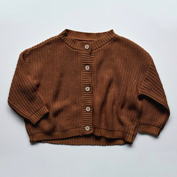 Gestrickter Oversized Cardigan in 'rust'