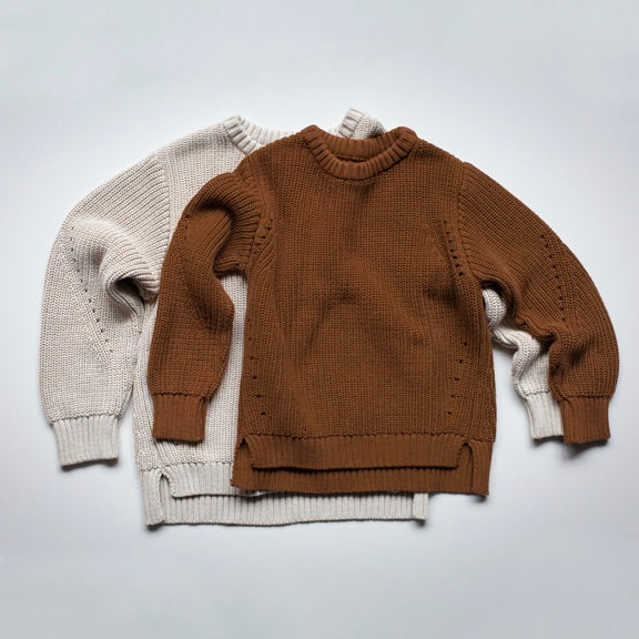 Gestrickter Oversized Pullover in 'rust'