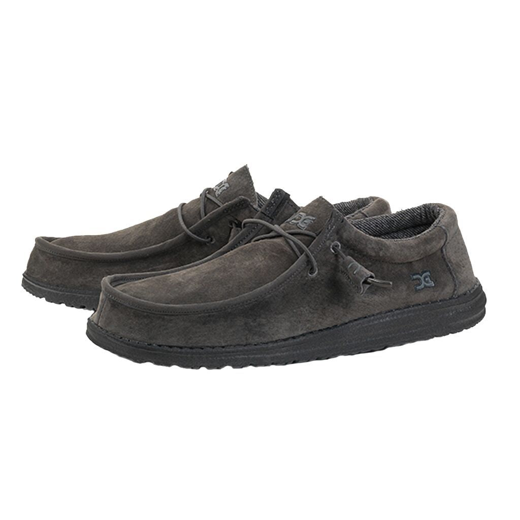 WALLY SUEDE CHARCOAL