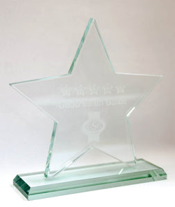 Covid Aware Glass Star