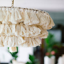 Load image into Gallery viewer, TASSEL CHANDELIER- IVORY